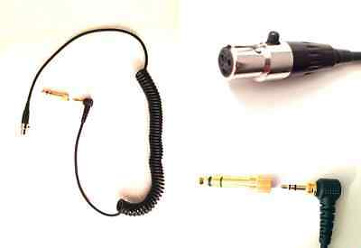 Short Coiled Replacement Cable For Pioneer HDJ 2000 Headphones