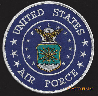 """Large Us Air Force Jacket 5"""" Patch Logo Seal Usaf Vet Pin Up Gift Usaf Gift Wow"""