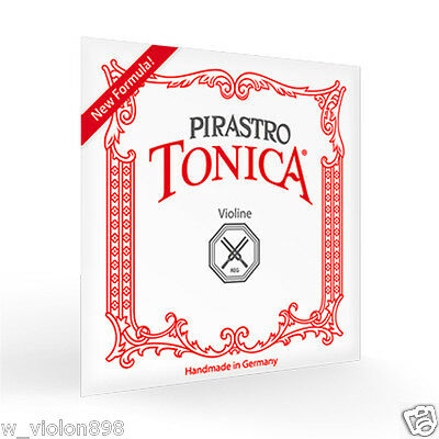 Pirastro Tonica Violin Strings Full Set 4/4 Ball End (412021) Cordes De Violon