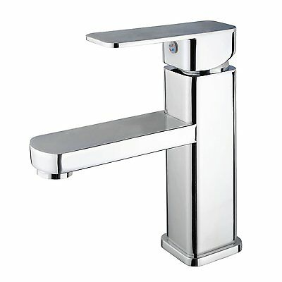 New Flick Basin Mixer Bathroom Cabinet Sink Tap Brass Faucet Chrome Square AU