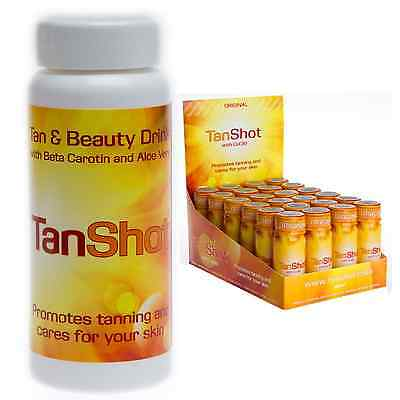 TanShot Tan Shot Tanning & Beauty Drink, Tanning & Sunbed Supplement, with CoQ10