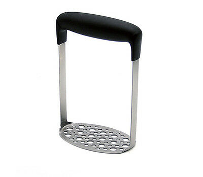 Home Kitchen gadget Tool Stainless Steel potato masher ricers w black handle