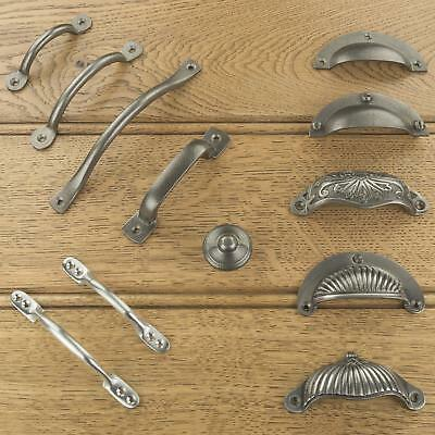 Cast Iron Kitchen Cabinet Drawer Cup Pulls Handles & Knobs Antique Iron Finish