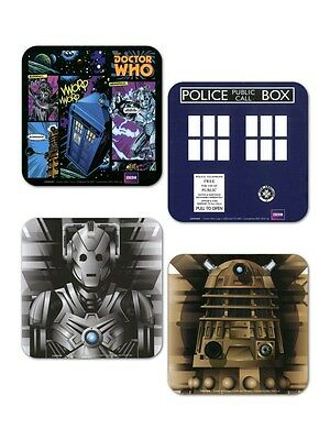 Doctor Who Set of 4 Dr Who Coaster