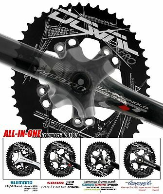 2016 New DOVAL Chainring set BCD110/130 MGLR ALL-in-one(11.7,13.5,16%) Black