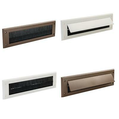 Letterbox Draught Seal White / Brown Letter Box Excluder Excluders Flap Option