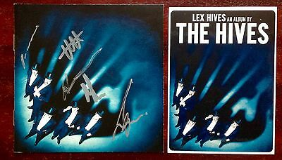 The Hives Lex Hives autographed CD booklet & promotional sticker