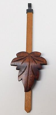 "Cuckoo Clock Pendulum 3"" Maple Leaf Style NEW Brown German Made 8 1/2"" Length"