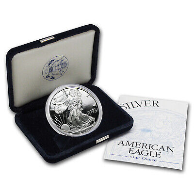 2000-P 1 oz Proof Silver American Eagle (w/Box & COA) - SKU #1059