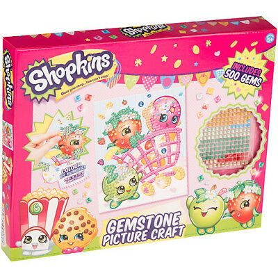 Shopkins Gemstone Art Set Colour By Numbers Children's Picture Craft Kit