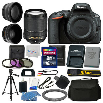 Nikon D5500 Digital SLR Camera 3 lens: 18-140mm VR + 16GB + More Great Value Kit