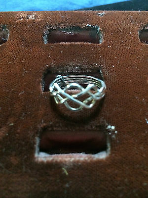 Sterling Silver 4 Band Puzzle Ring Hand Made Forged wire