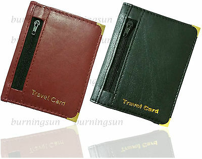 Soft Leather Bus Pass Oyster Card Credit Card Travel Card Holder Wallet Purse