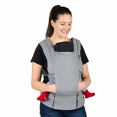 Mountain Buggy Juno Baby Carrier Charcoal New Includes Infant Insert! Free Ship!