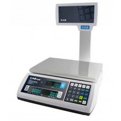 60 LB x 0.02 LB Cas S2000JR NTEP Price Computing Retail Scale VFD & Pole Display