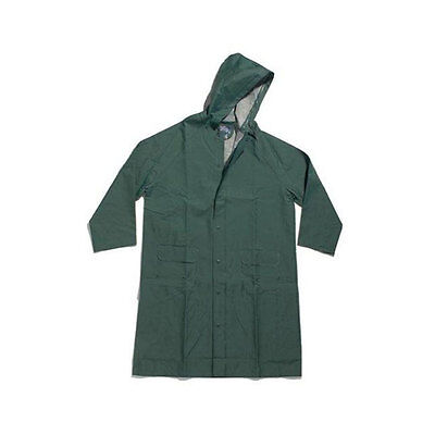 Dutch Harbor Gear HD223 Polyvinyl Forest Green Hooded Rain Jacket, Large