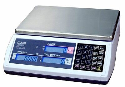 30 LB x 0.01 LB Cas EC Series Coutning Scale With Label Printer & Labels NEW