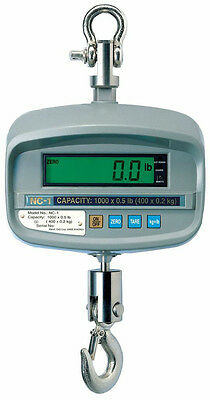 500 LBS x 0.2 LBS Cas NTEP NC-1 Hanging Industrial Crane Scale, Wireless Remote
