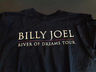 BILLY JOEL River of Dreams Tour Concert CREW Shirt 1993 Vintage XL Free Shipping