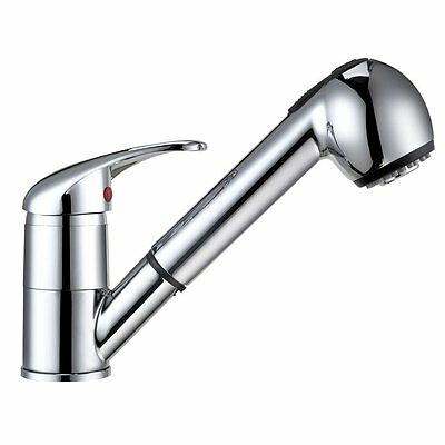 Pull Out Spray Kitchen Sink Faucet Chrome Brass Single Lever Mixer Basin Tap AU