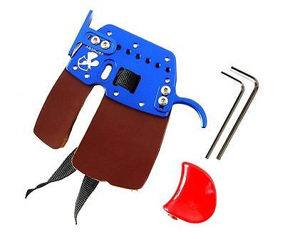 Bow String Archery Finger Protector Tab Guard Glove Leather RH Hunting Shooting