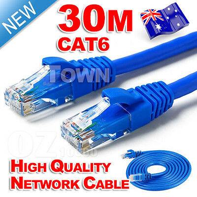 High Quality 30M RJ45 CAT6e CAT6 Ethernet LAN Network Cable 100M/1000Mbps