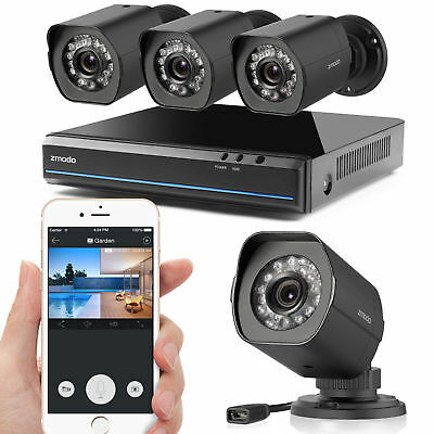 Zmodo Home Surveillance System 1080p 8CH NVR 8 WiFi Camera Outdoor/Indoor 500GB