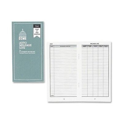 Dome Automobile Mileage Log Book, Card Stock Cover, 3 1/4in. x 6 1/4in - DOM770