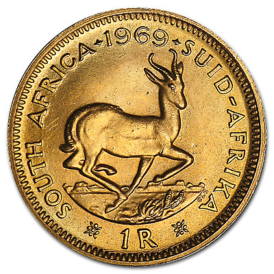 South African Gold 1 Rand Coin - SKU #14522