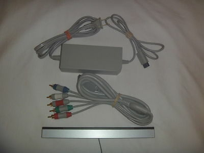 Official Nintendo Wii Supply Ac Adapter Sensor Bar Component Cables