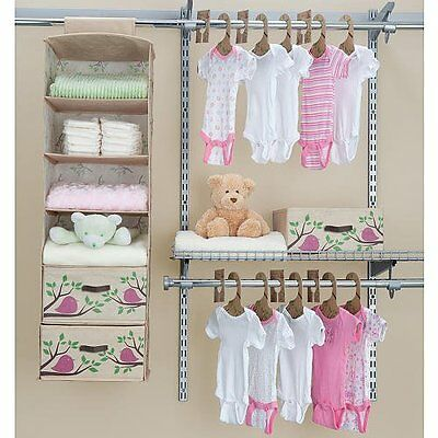 Delta Children Girls Nursery Closet Organizer Bedroom Baby-Infant PINK 20 pc Eco
