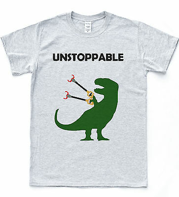 Unstoppable T-Rex T-shirt Funny Drawing Dinosaur Tee Dino Nature Animal Top