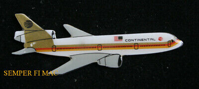 Continental Dc-10 Douglas Hat Lapen Pin Broach Jet Airliner Pilot Crew Gift Wow