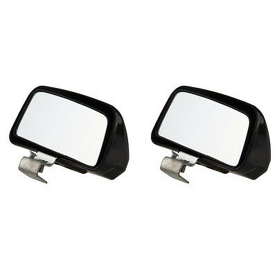 2Pcs Black Car SUV Auto Truck Jeep Wide Angle Rear Side View Blind Spot Mirrors