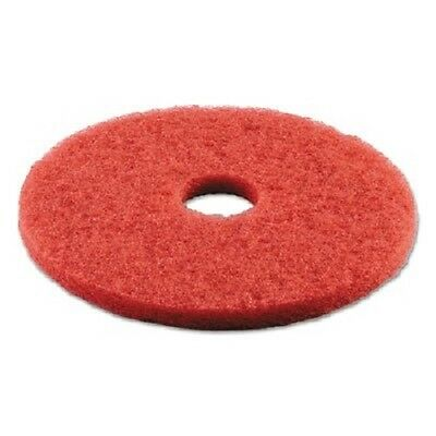 Standard 16-Inch Diameter Buffing Floor Pads, Red, Sold as 1 Carton