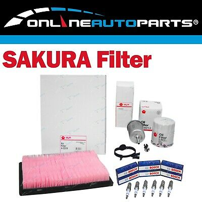 Oil, Air & Fuel Filter, Bosch Spark Plug Service Kit Commodore VX VY VT V6 3.8L