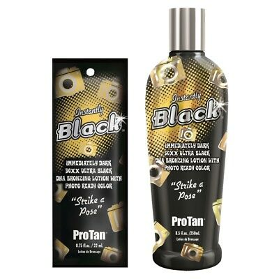 Pro Tan Instantly Black Dark 50XX Ultra Black DHA sunbed tanning lotion bronzer