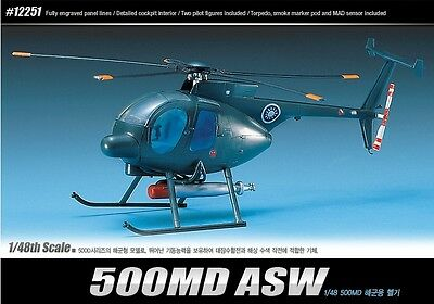Academy 1/48 Plastic Model Kit 500MD ASW Helicopter 12251 NIB