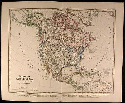 North America Territorial Western states 1857 scarce Stulpnagel map