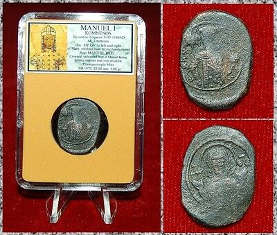Ancient Byzantine Empire Coin Of Manuel I Crowned Manuel I On Reverse