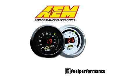 AEM DIGITAL 52mm BOOST TURBO PRESSURE GAUGE - 30-35PSI    #30-4406