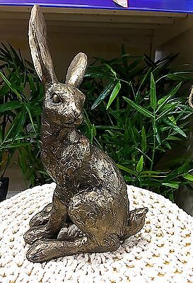 New Bronze Effect Hare Home Ornament Sculpture Large Figurine Statue Decor Gift