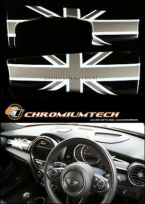 MK3 MINI Cooper/S/ONE BLACK Union Jack Dashboard Panel Cover F55 F56 Hatch F57