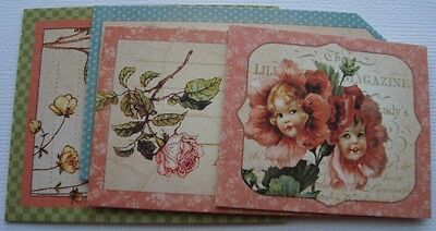 APRiL FAiRiES - Graphic 45 Chipboard Die Cuts - Picture Cards - Journal Kit