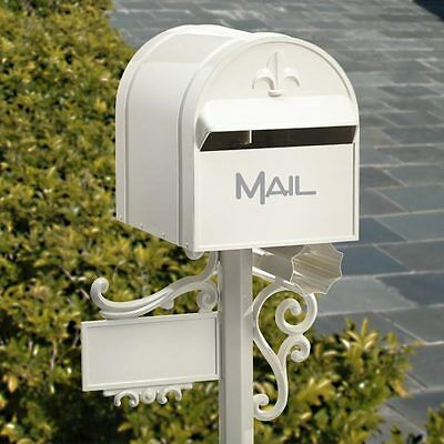 MILKCAN Design CREAM Aussie TOP MOUNT Letterbox Aluminium Box and Post Mailbox