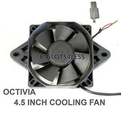 Octivia 12 Volt Electric Engine Cooling Fan Radiator Motorcycle Atv Mx Honda