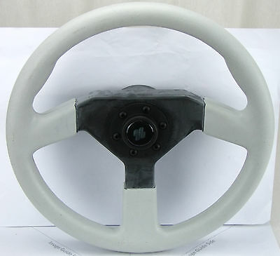 Boat Steering Wheel Soft Grip Grey 350mm Black Centre