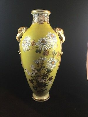 antique Hand Painted Nippon Vase 14 Inches
