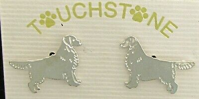 Golden Retriever Jewelry Gold Silhouette Post Earrings By Touchstone