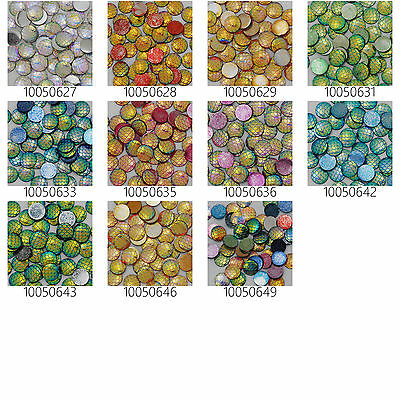 12mm Irridescent Acrylic Mermaid Scale Dragon Egg Cabochons 50pcs 10Colors